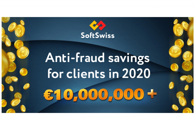 SoftSwiss saves its clients over 10 million euro in 2020 via its Anti-Fraud Service